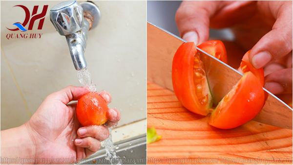 Làm nước ép cà chua cũng hết sức đơn giản