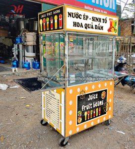Quang Huy nhận thiết kế tủ bán nước ép trái cây kích thước theo yêu cầu
