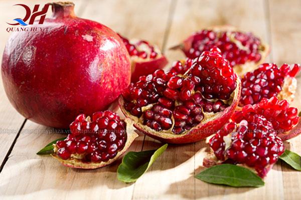 Lựu là loại trái cây được biết đến với sự thanh mát
