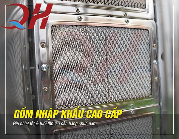 Gốm nhập khẩu cao cấp được bảo vệ bởi mắt lưới Inox cao cấp