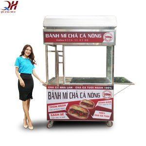 Quang Huy nhận thiết kế xe bánh mì chả cá theo yêu cầu, báo giá rẻ nhất thị trường