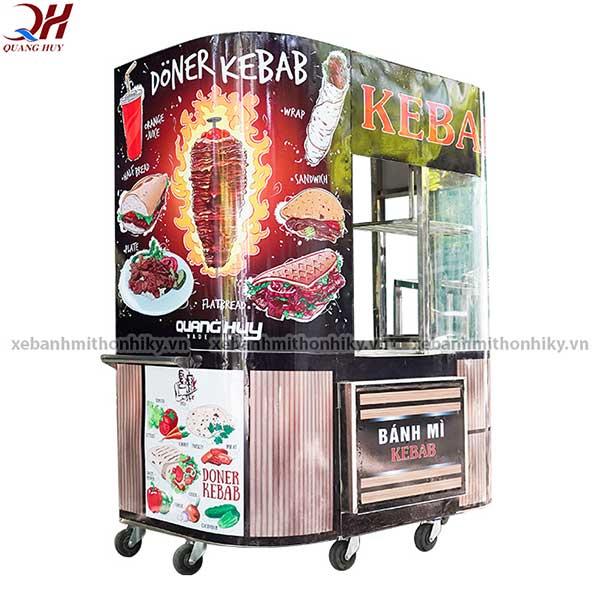 Xe bánh mì Doner Kebab được thiết kế màu sắc, hình ảnh Decal đẹp mắt