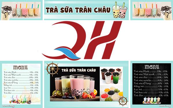 Quang Huy thiết kế decal xe trà sữa miễn phí