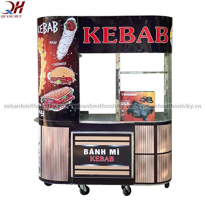 Tủ bán bánh mì kính cong 1m8 thiết kế mới nhất tại Quang Huy