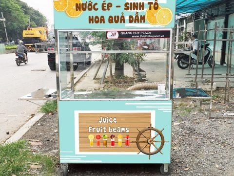 Mẫu xe bán nước ép hoa quả vỉa hè giá rẻ