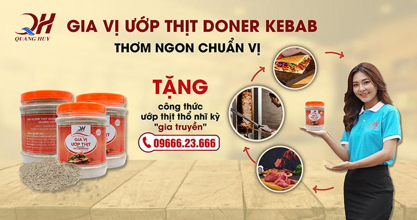 Quang Huy chuyên phân phối gia vị ướp thịt doner kebab chính hãng