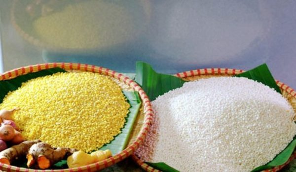 Gạo nếp, đỗ xanh là nguyên liệu chính để làm xôi xéo