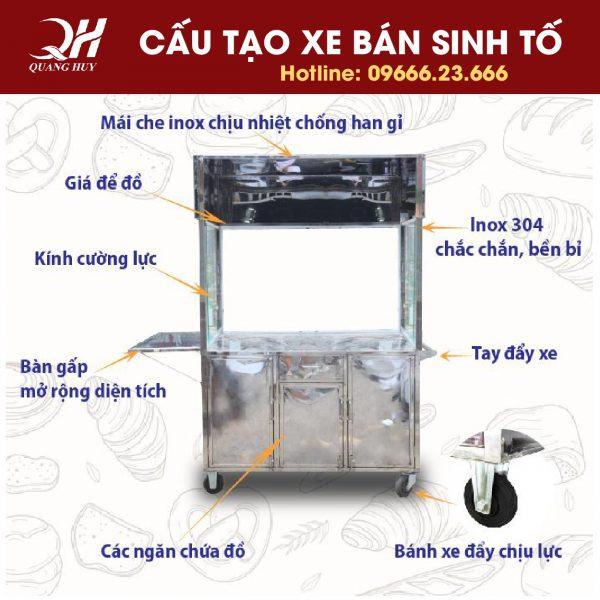 Cấu tạo cơ bản của xe bán sinh tốt sản xuất tại Quang Huy