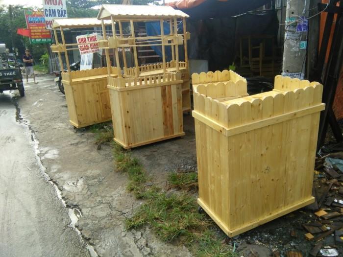 Xe gỗ bán cà phê giá rẻ chất lượng kém