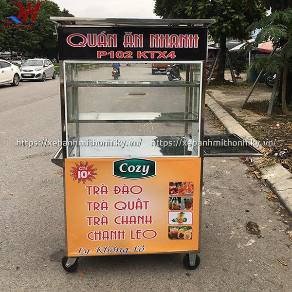 Xe bán trà tắc trà chanh với kích thước nhỏ gọn được sản xuất bởi Quang Huy