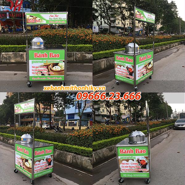 Xe bán bánh bao mini giá rẻ tại Quang Huy