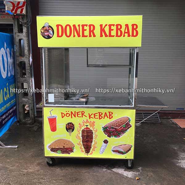 Xe bánh mì Doner Kebab 1m5 sản xuất và phân phối bởi Quang Huy