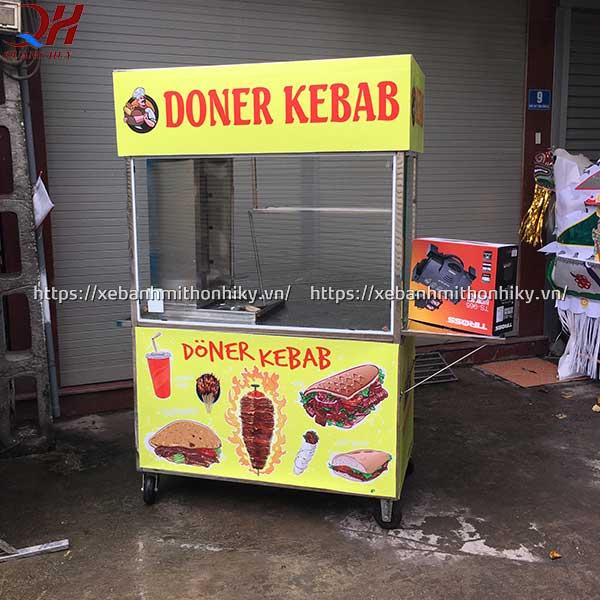 Xe bánh mì doner kebab 1m5 có thiết kế đơn giản