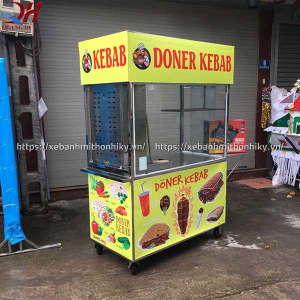 Xe bánh mì thiết kế có lò nướng thịt doner kebab tiện lợi