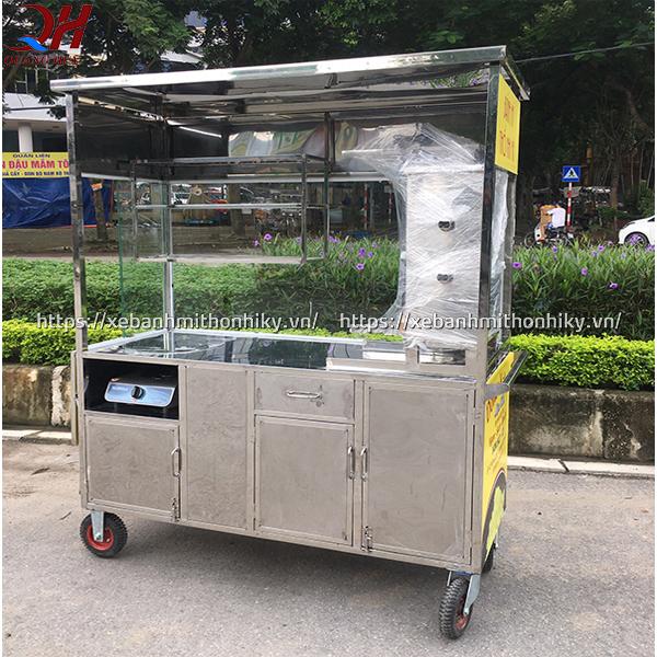 Xe bánh mì thổ nhĩ kỳ Quang Huy được làm từ Inox 304 cao cấp