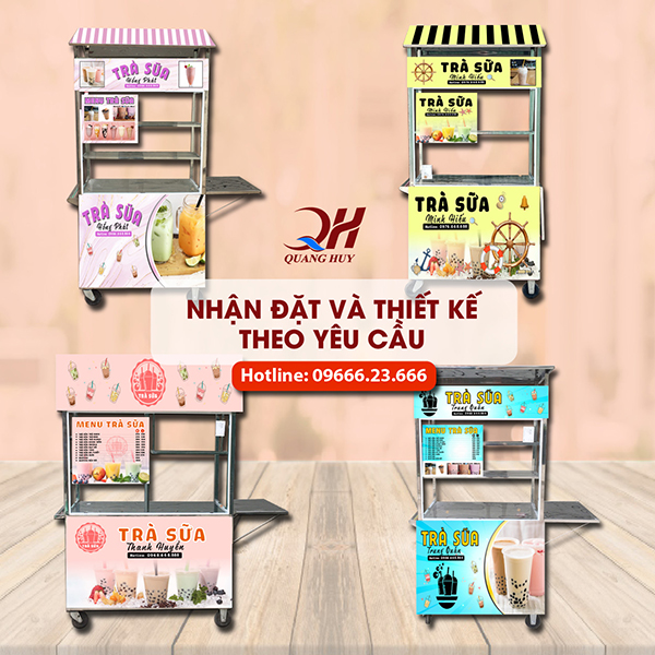 """Khám phá những mẫu xe bán trà sữa """"đẹp + độc + lạ"""" tại Quang Huy"""