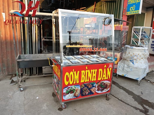 Tủ bán cơm bình dân cơm tấm sản xuất tại Quang Huy