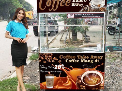 Xe bán cafe dạo vỉa hè, lề đường, inox 304 siêu bền