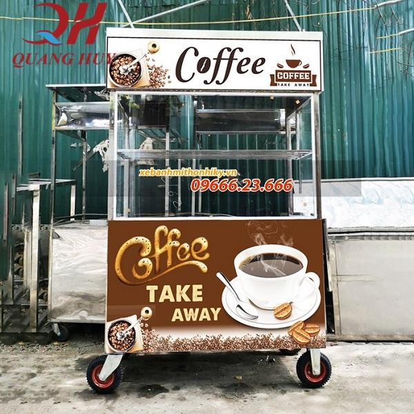 Xe đẩy bán cà phê