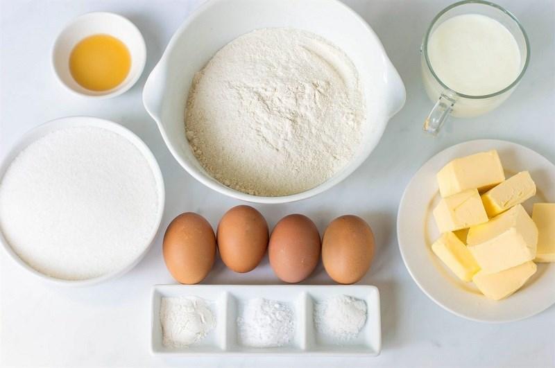 Nguyên liệu làm vỏ bánh mì humberger