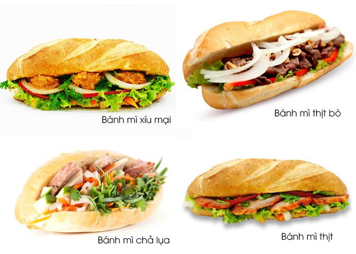 Bánh mì với nhiều sản phẩm đa dạng