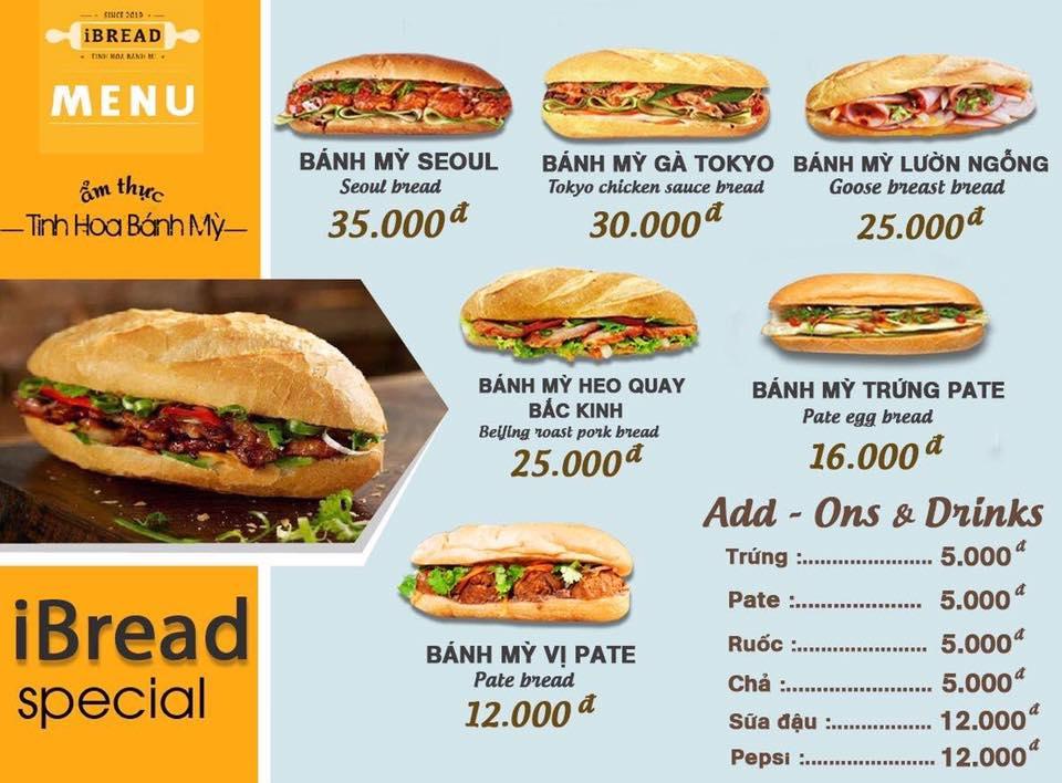 Bánh mì với các mức giá khác nhau, nhiều sự lựa chọn cho khách hàng