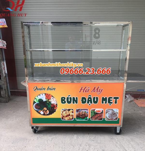 Tủ kính bán bún thông dụng giá rẻ