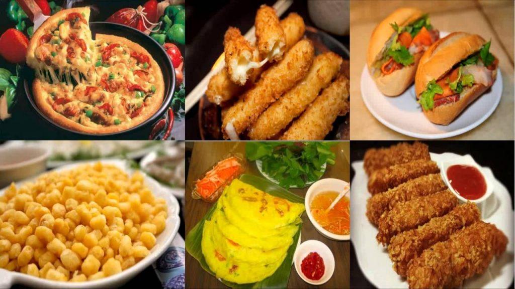 Kinh doanh đồ ăn vặt online với nhiều món ăn hấp dẫn