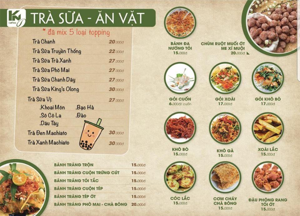 Cập nhật menu món ăn đa dạng