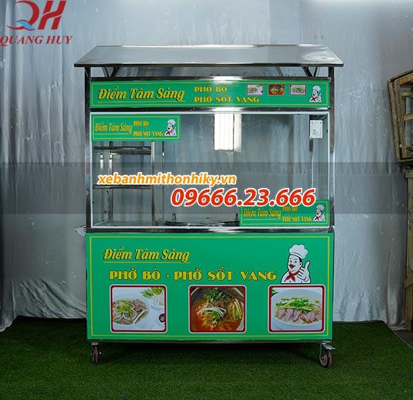 Xe bán phở, bán bún do Quang Huy sản xuất và phân phối