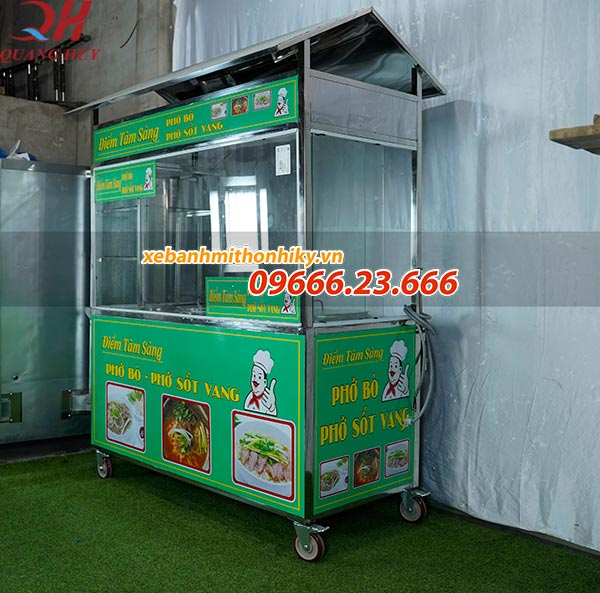 Xe bán phở, bán bún bằng inox tại Quang Huy hiện có giá thành tốt nhất so với thị trường