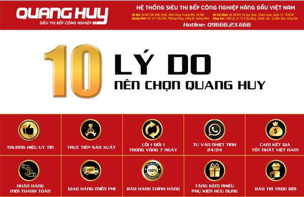 Những lý do bạn nên lựa chọn Quang Huy là điểm đến mua hàng của mình
