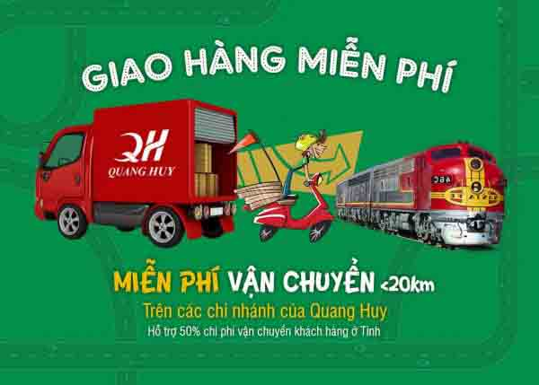 Quang Huy giao hàng nhanh chóng và tiện lợi