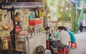 Xe bán đồ ăn sáng tiện dụng