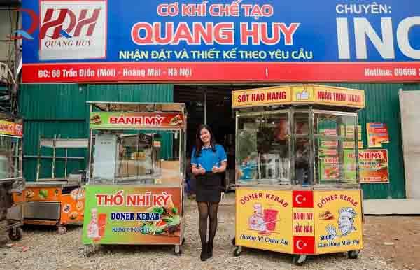 Tham khảo xe bán bánh mì giá bao nhiêu tại Quang Huy