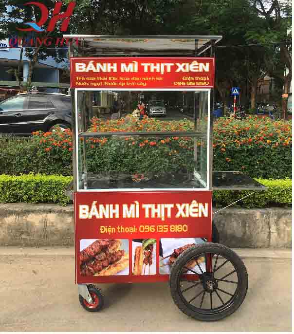 xe đẩy bán bánh mì giá rẻ