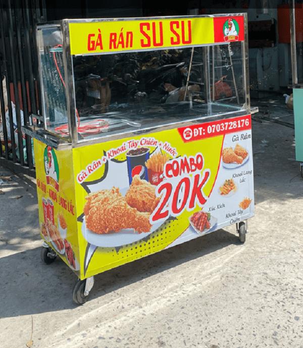xe đẩy bán gà rán mini